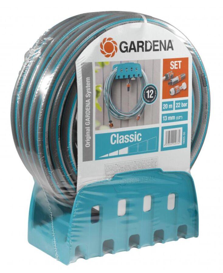 Шланг с кронштейном и комплектом для полива Gardena Classic 13 мм (1/2