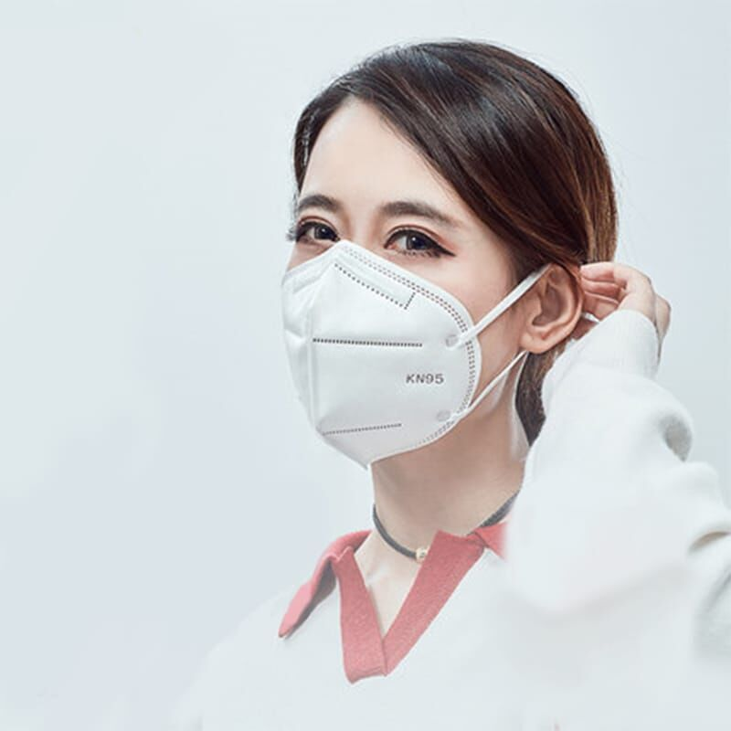 Защитная 5 слойная маска респиратор KN95 класс FFP2 с угольным фильтро