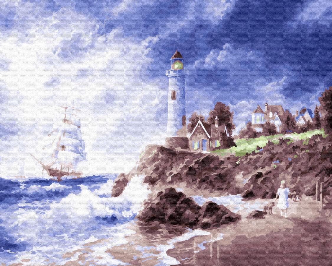 Картина по номерам. Маяк на острове GX22601