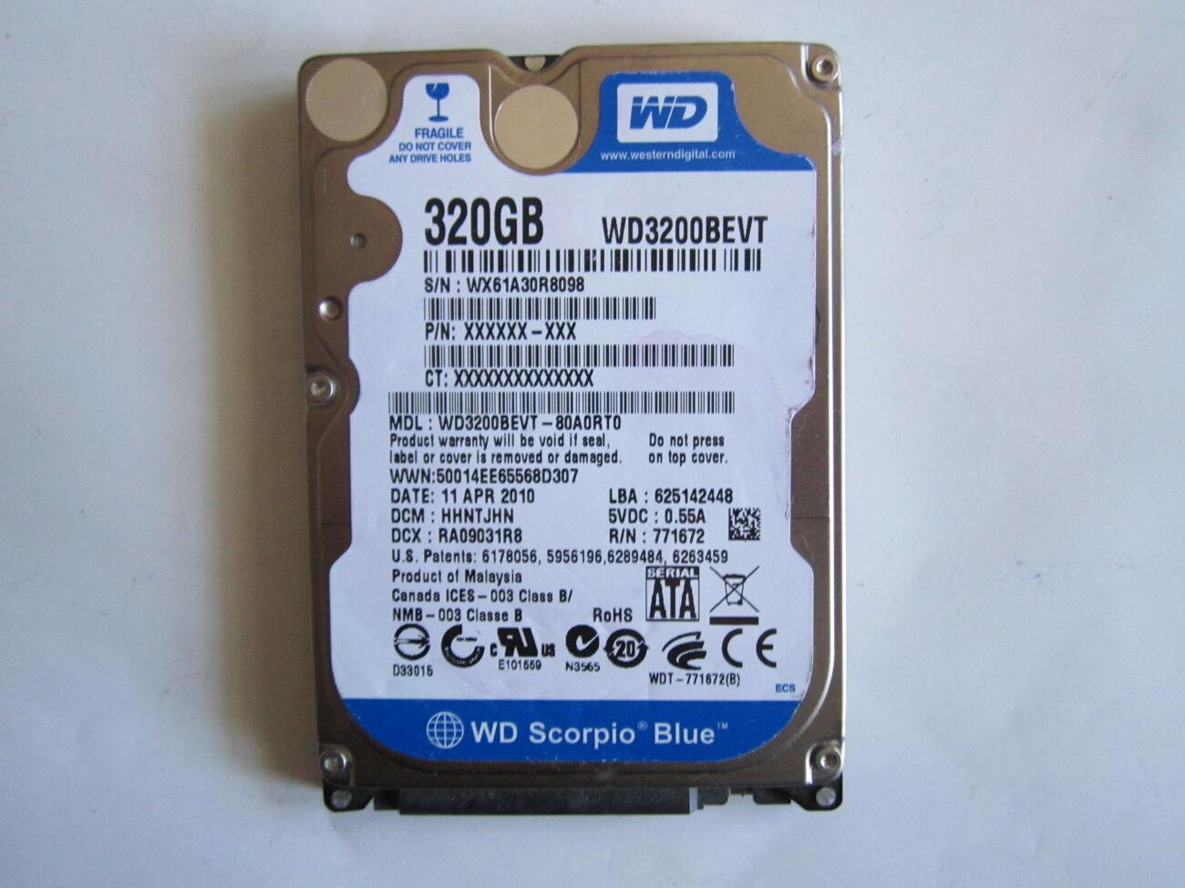 2,5'' Жорсткий диск WD WD3200BEVT 320Gb