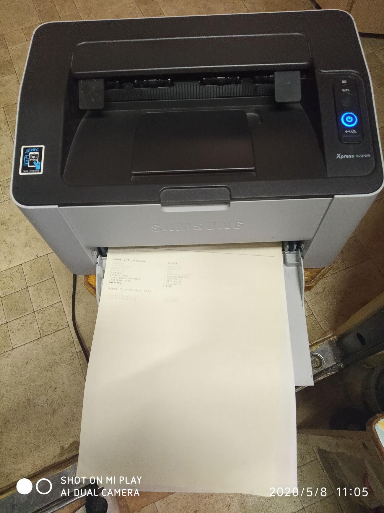 Samsung Xpress M2020W, с WiFi, Лазерный принтер,