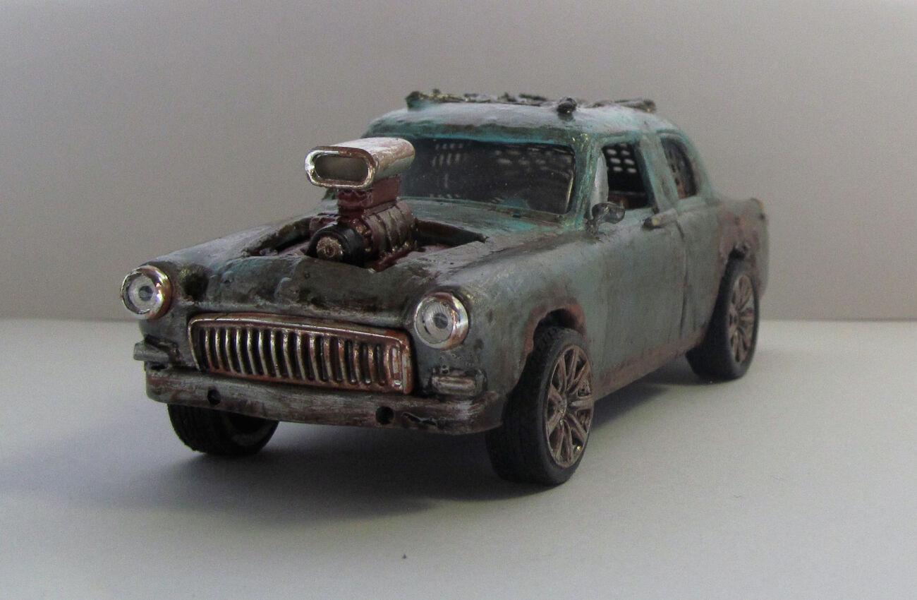 Модель конверсия ГАЗ 21 Волга в стиле пост-апокалипсиса Безумный Макс