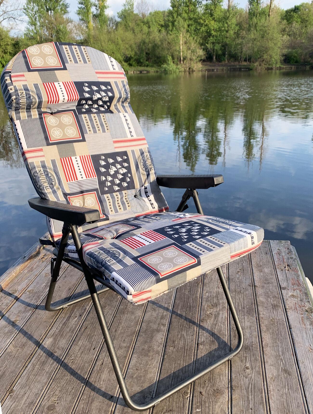 Шезлонг «Mavens F2» - идеальное кресло-шезлонг для отдыха на природе.