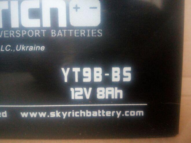 Акумулятор 8 Ач Skyrich YT9B-BS 3