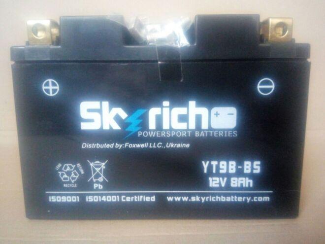 Акумулятор 8 Ач Skyrich YT9B-BS