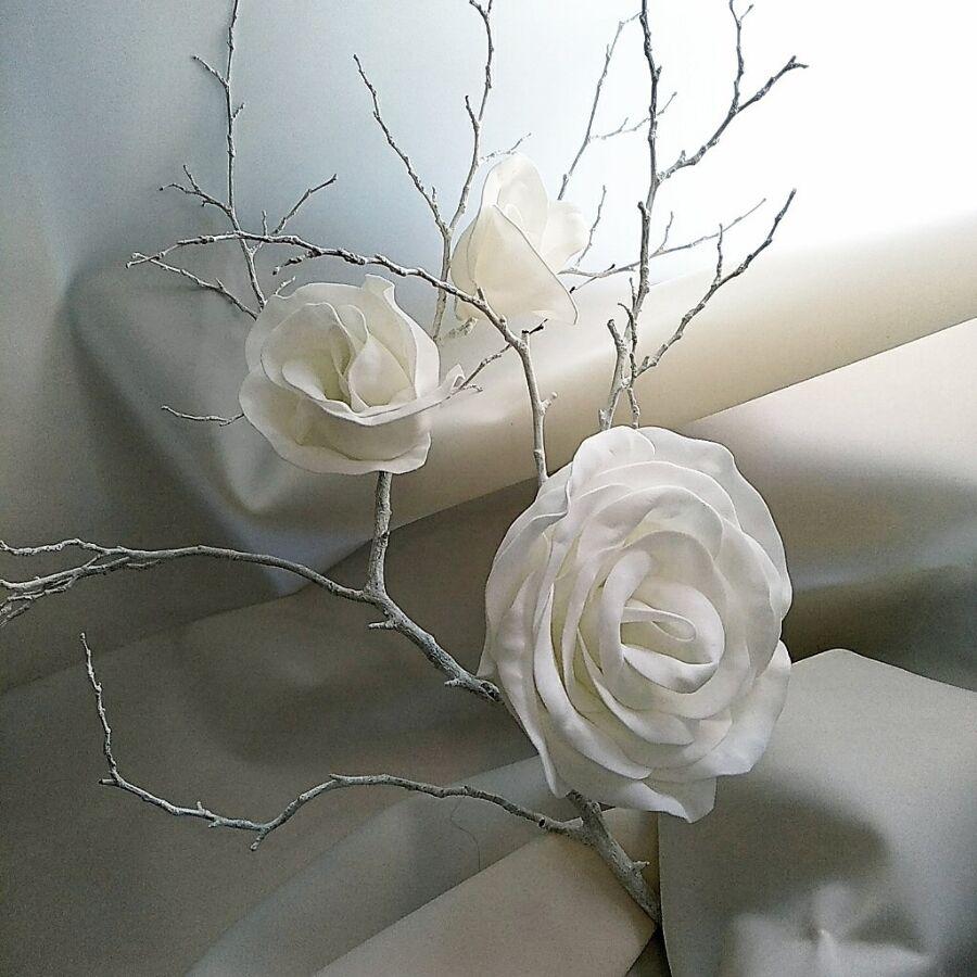 Розы искусственные для декор/ набор из 3шт