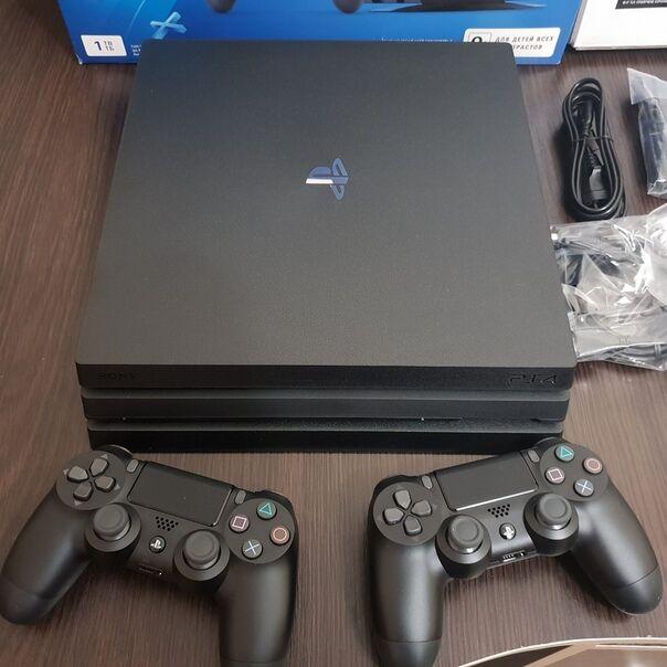 56 Игр + Контролер Игровая приставка SONY PlayStation 4 Pro 1Tb Black