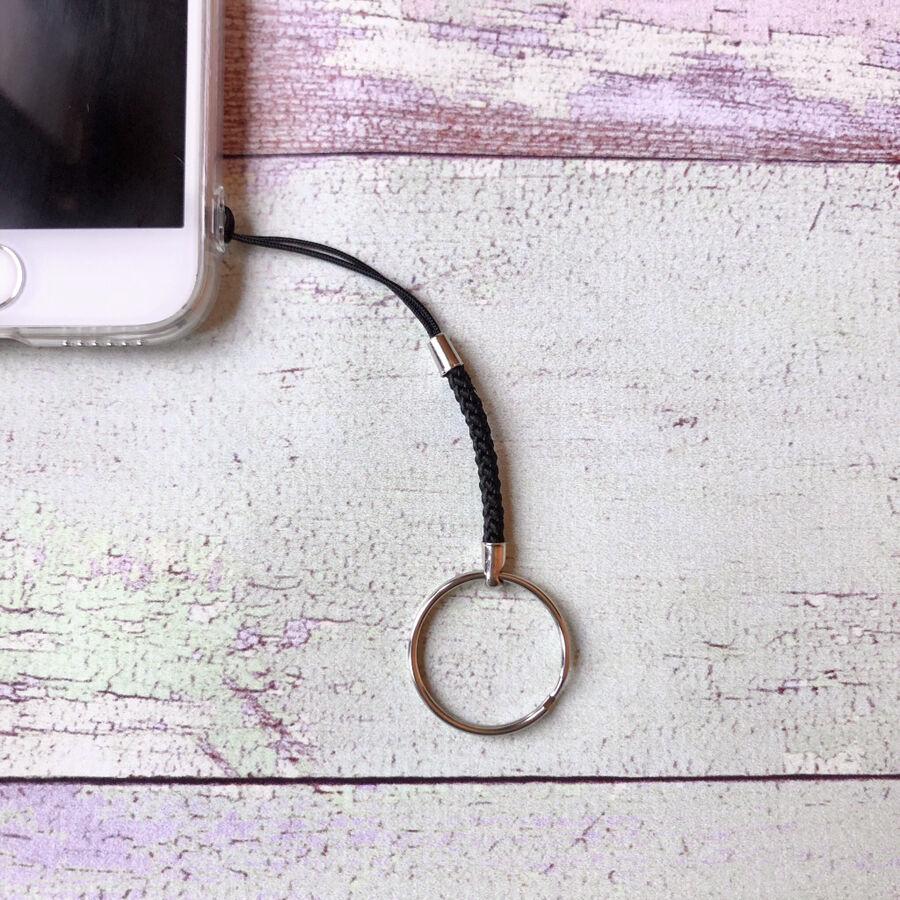 Шнурок с металлическим кольцом для чехла мобильного телефона