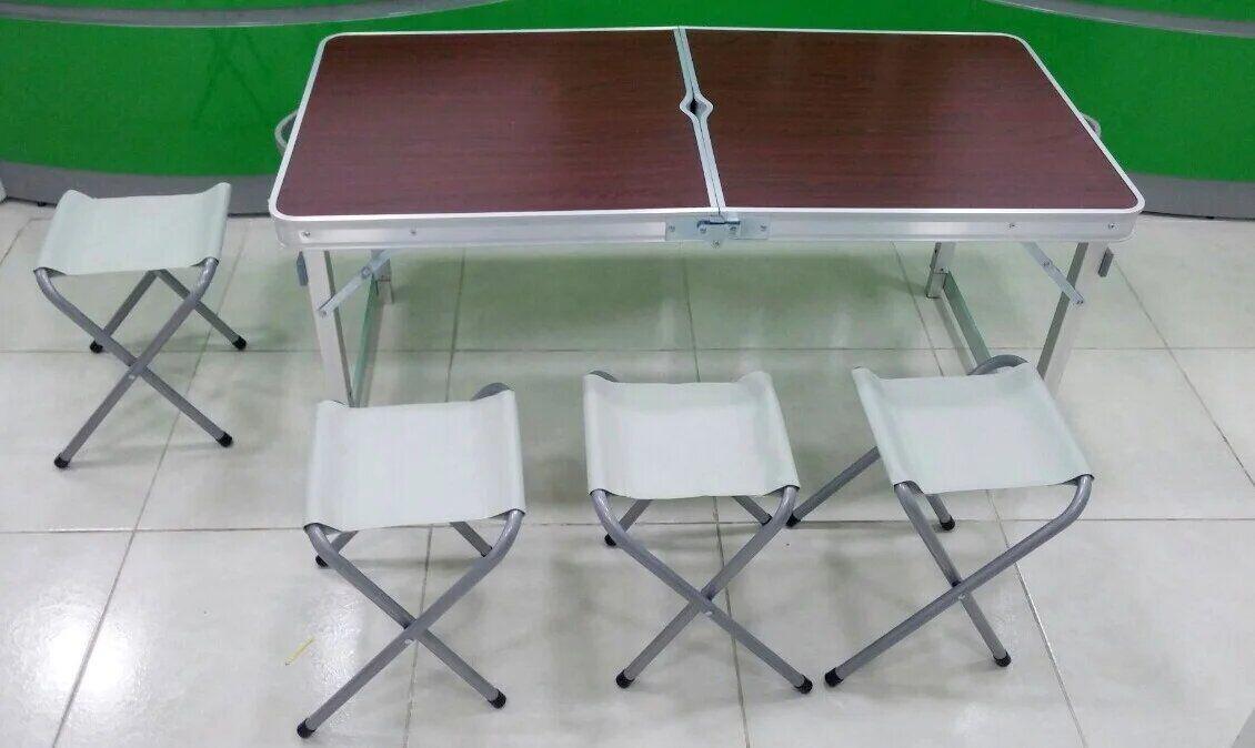Стол туристический раскладной 4 стула Folding Table (120*70*60*см.)
