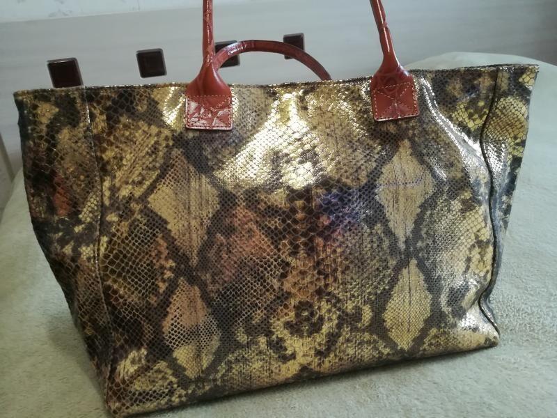 Кожаная сумка Genuine Leather, Borse in Pelle, Made in Italy.