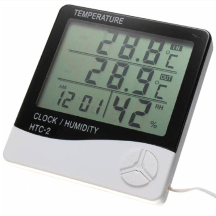 Часы-Термометр-Гигрометр с выносным датчиком HTC-2