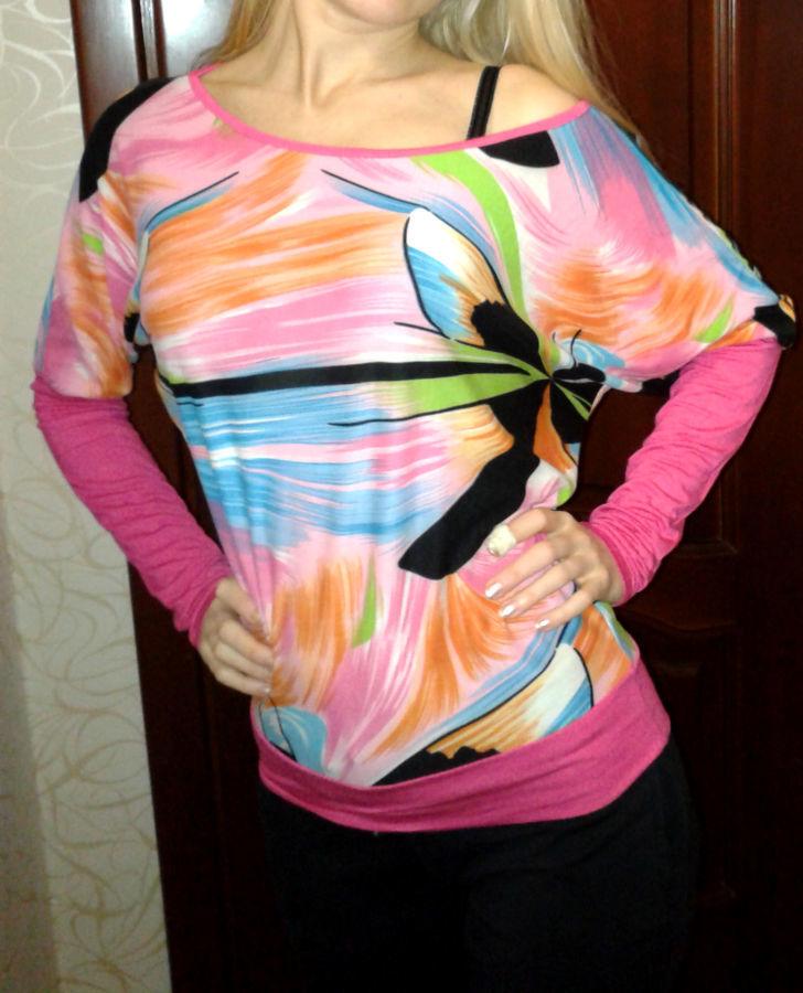 Фото - Яркая блуза интересного фасона