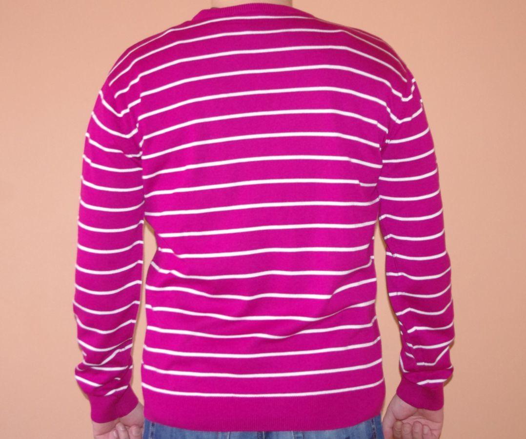 Пуловер Новый Темно-Вишневого Цвета В Белую Полоску 52 Размер  190 ... 98c1e7c76b395