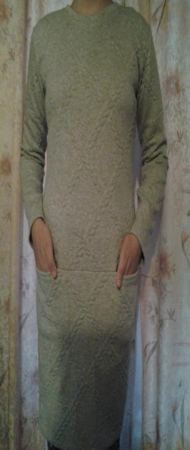 Фото - Новое платье из выбитого трикотажа, тёплое