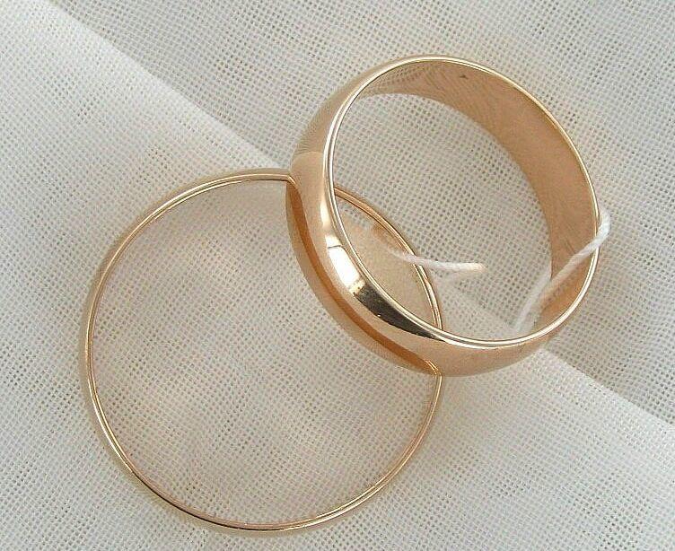 Фото - Золотые обручальные кольца 585 пробы! (6 мм.)