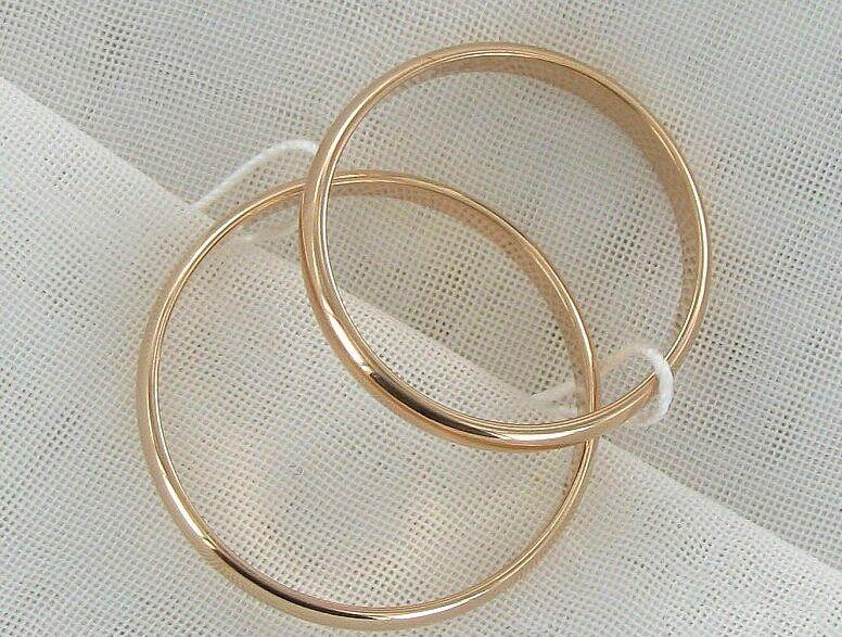 Фото - Обручальные кольца! Любой размер! (2,5 мм.)