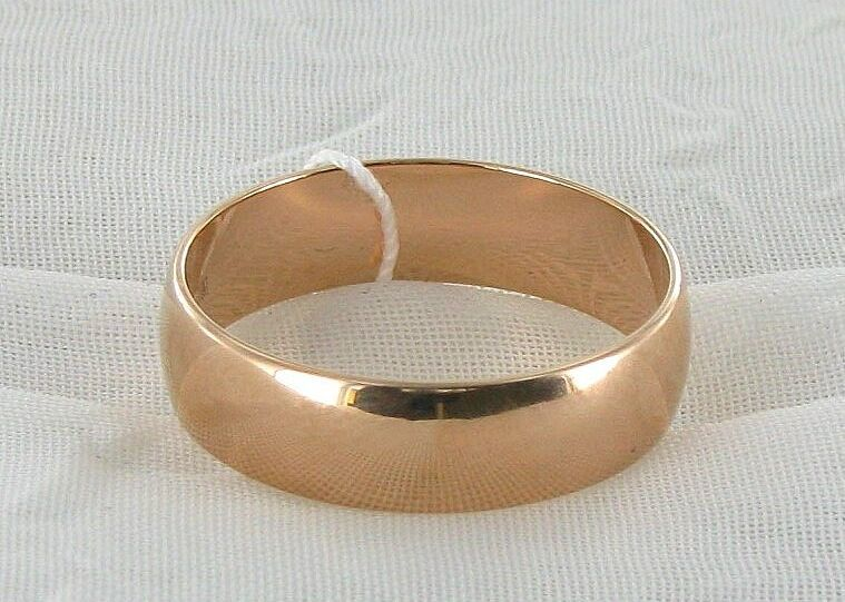 Фото 2 - Золотое обручальное кольцо 585 пробы! (6 мм.)
