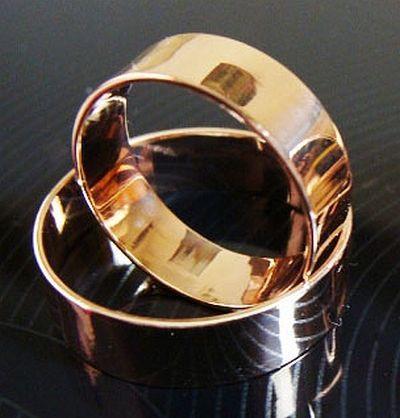 Фото - Обручальные кольца 585 пробы Американка (7 мм)
