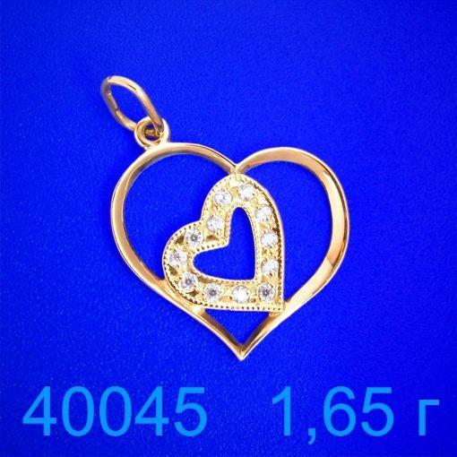 Фото - Подвеска золото 585 пробы  (40045)