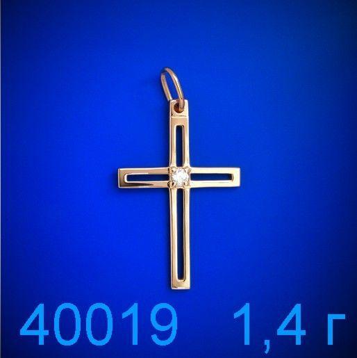 Фото - Крестик золото 585 пробы (40019)