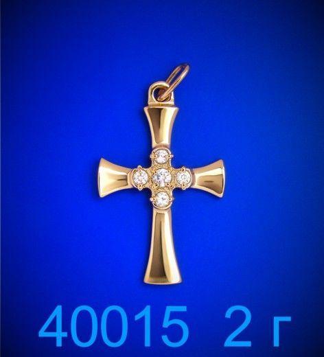 Фото - Крестик золото 585 пробы (40015)