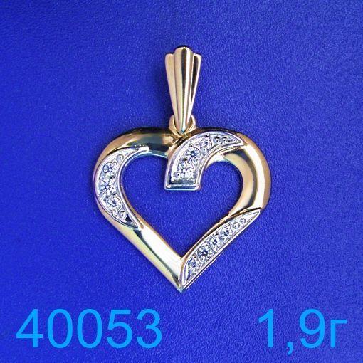 Фото - Подвеска золото 585 пробы сердце! (40053)