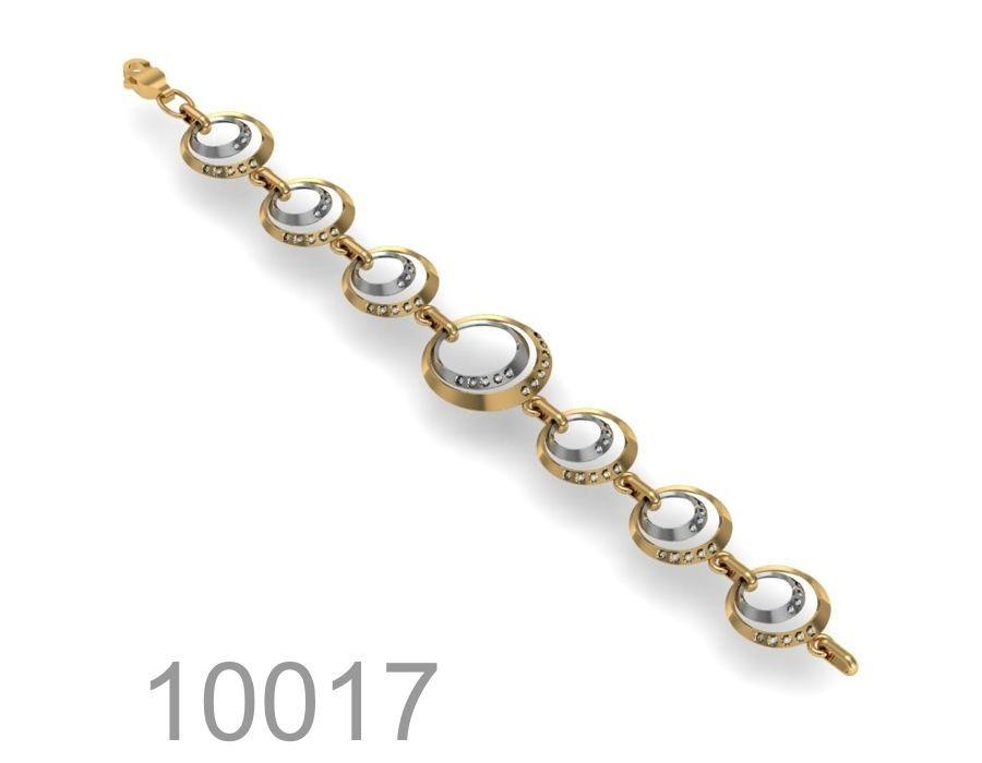 Фото - Оригинальный золотой браслет 585 пробы (10017)