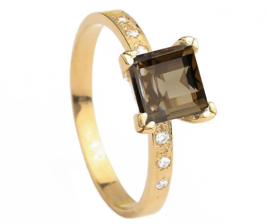 Кольцо с Раухтопазом золото 585 пробы (20248)  1 890 грн. - Кольца ... 4f5dc9d125dcb