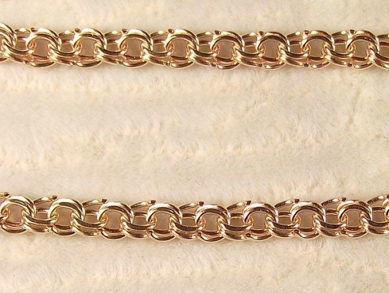 Фото 3 - Браслет Бисмарк Золото 585 пробы - любой длины!