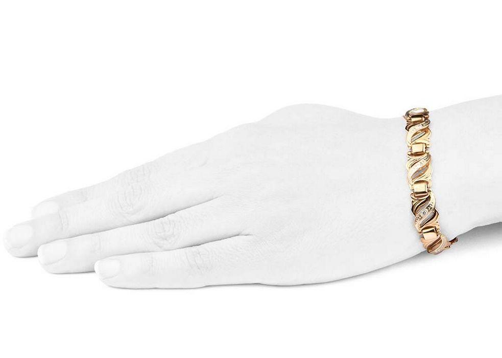 Фото - Браслет золото 585 пробы - 18,5 см. (10002)