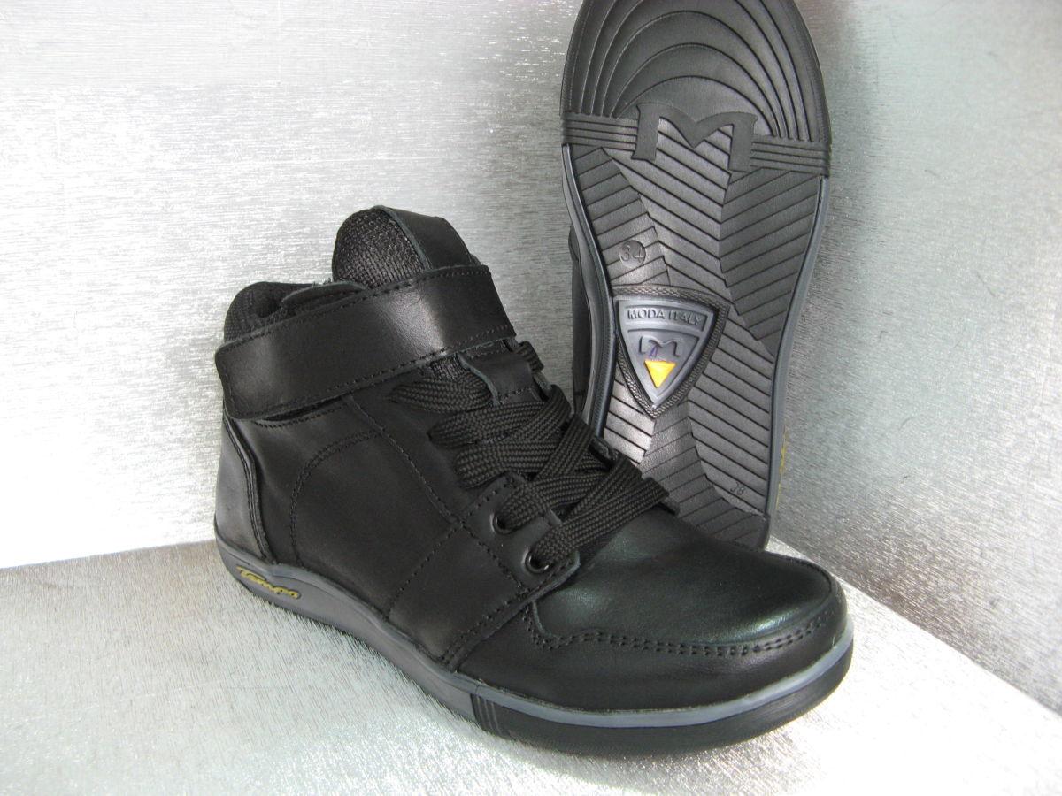 Фото 3 - Ботинки кожаные черные на мальчика 32р.34р.35р.