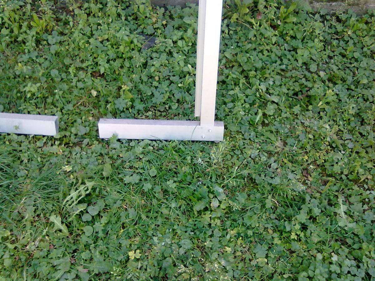 Фото 2 - Г-образная(L-образная) алюминевая опора для экспопанелей(цена за пару)