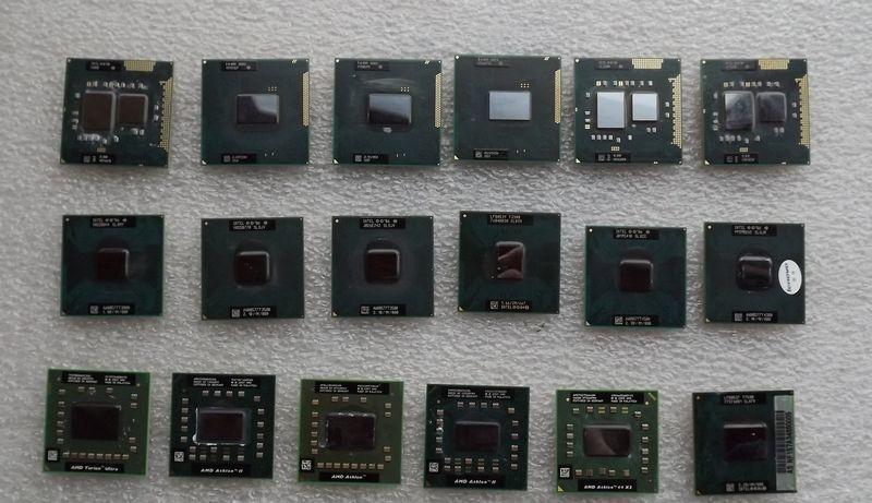 Фото - Процессоры для ноутбуков разные.
