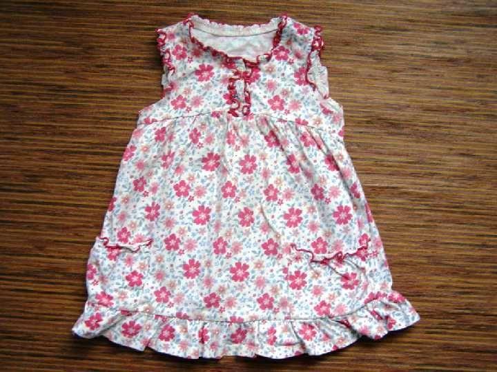Фото - трикотажное платье с оборками на 9-12 мес