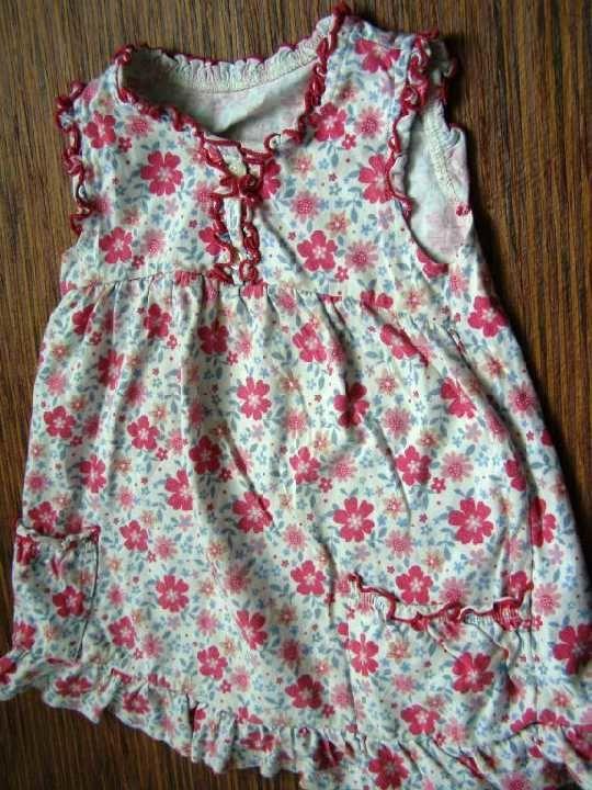 Фото 3 - трикотажное платье с оборками на 9-12 мес