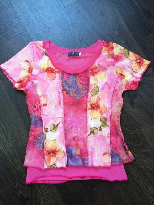 Фото - розовая футболка VANGO-PARIS размер M