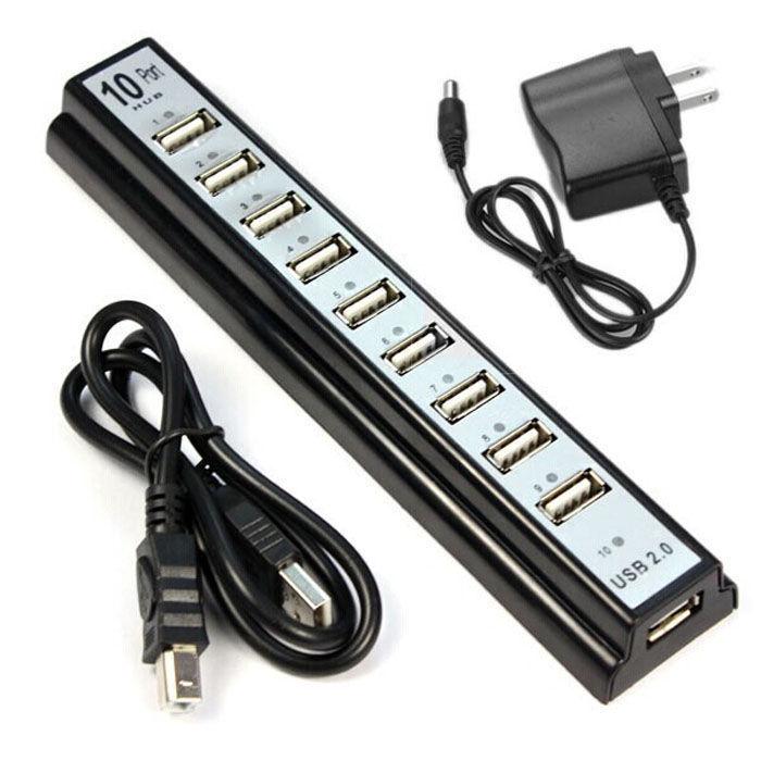 USB Hub хаб на 10 портов + блок питания В наличии