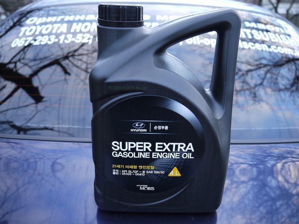 Оригинальное моторное масло Hyundai Super Extra Gasoline 5W30 SL/GF3