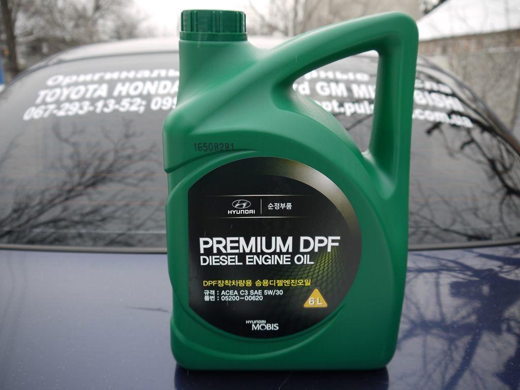 05200-00620 Моторное масло Hyundai Premium Diesel DPF 5W-30 API C3, 6л
