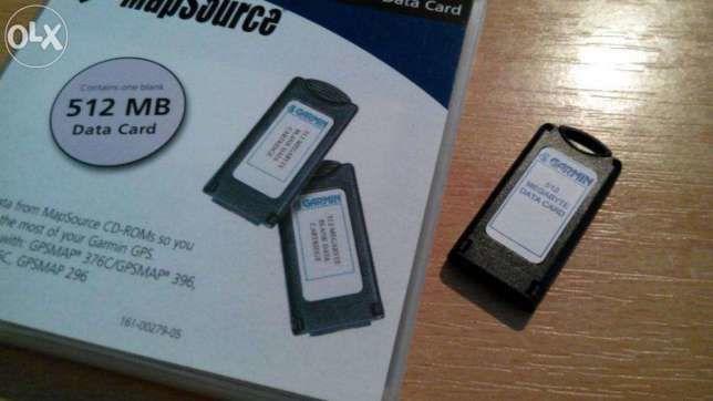 Картридж DATA CARD Garmin GPSmap 196, 295, 296, 496, 176, 276, 495
