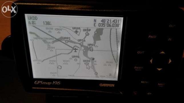 Garmin GPSmap 196 авиационный навигатор авіаційний навігатор