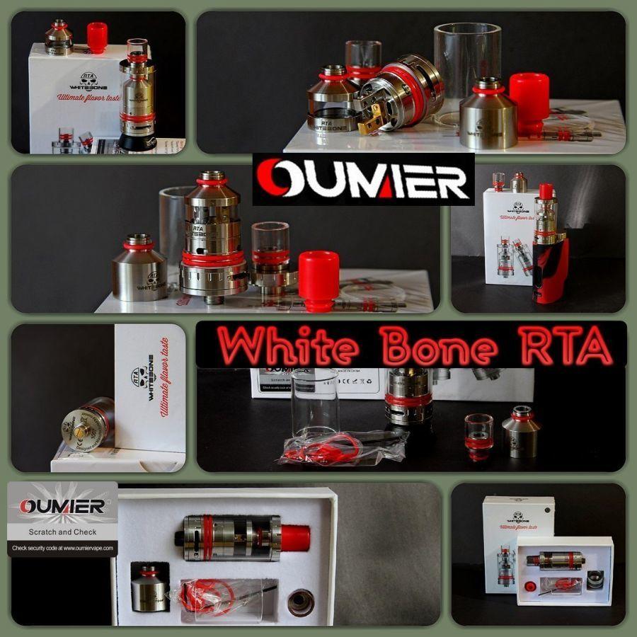 Обслуживаемый бакомайзер White Bone RTA, оригинал от компании Oumier