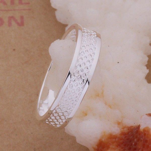 Фото 3 - Кольцо сеточка покрытие 925 серебро проба