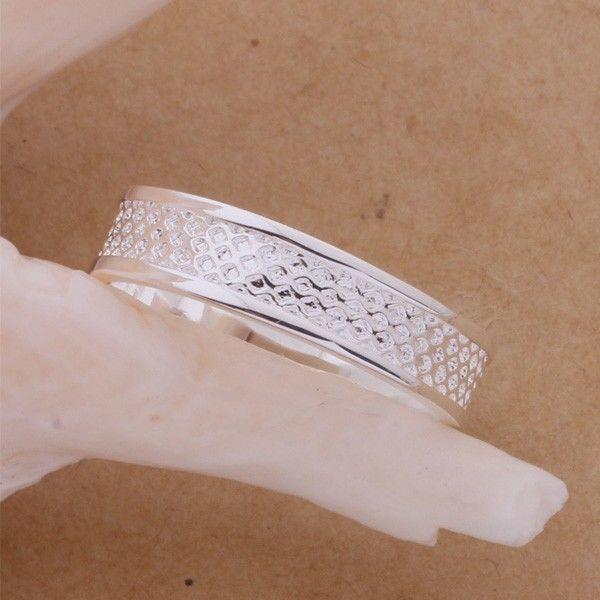 Фото 2 - Кольцо сеточка покрытие 925 серебро проба
