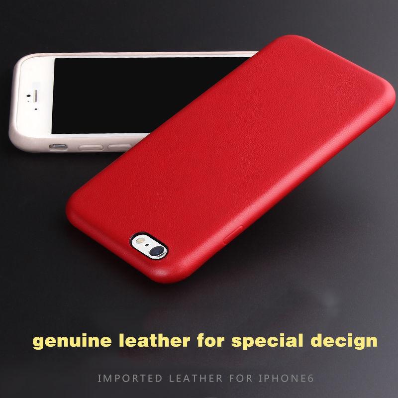 Фото 10 - Премиум чехол бампер нат.кожа IPhone 6+