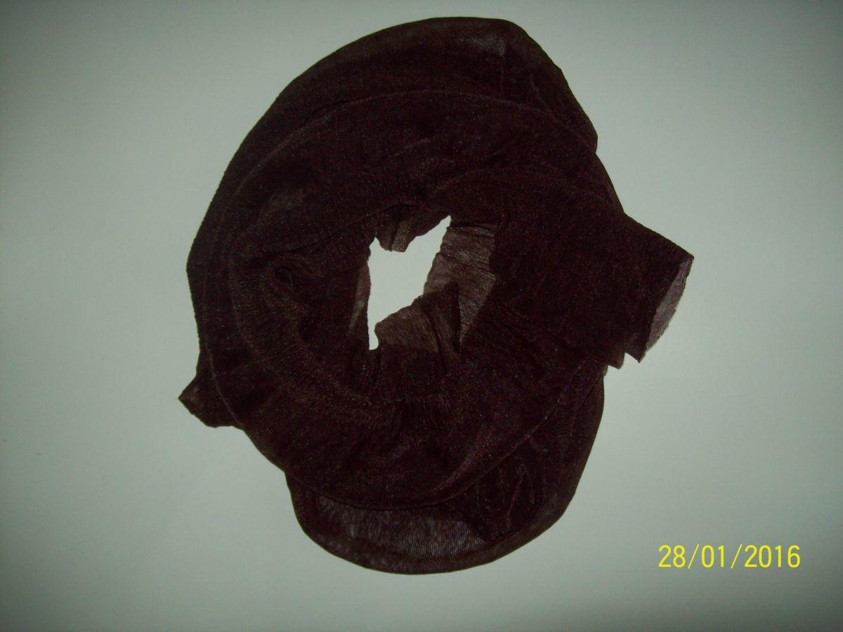 Фото 3 - Легенький весенний шарфик шоколадный