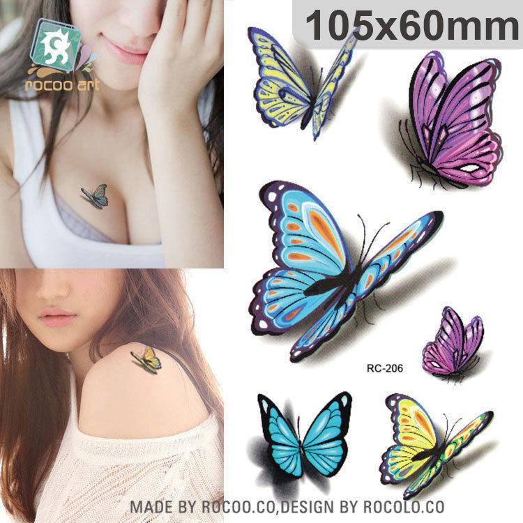 Временная татуировка Бабочки 3D