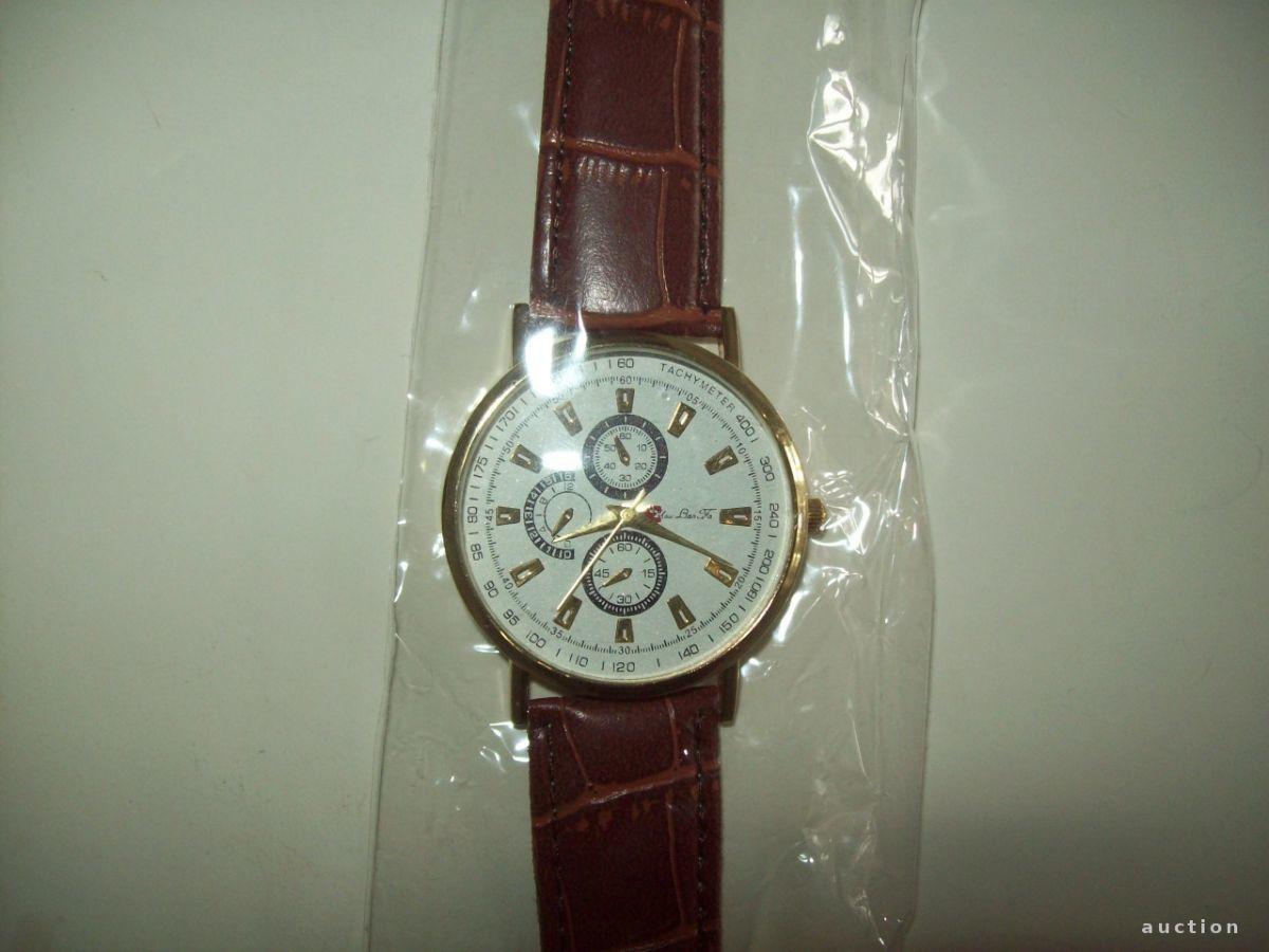 Фото - Стильные мужские часы коричневый ремешок