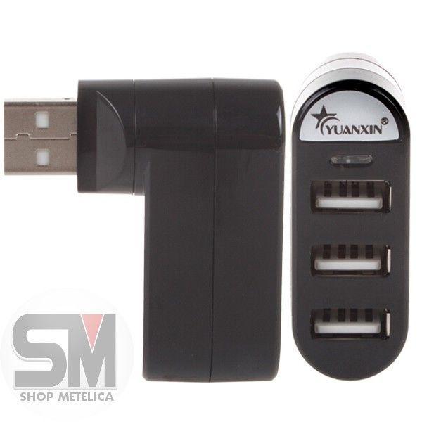 Фото 6 - USB HUB 2.0 Поворотный Высокоскоростной 3 порта