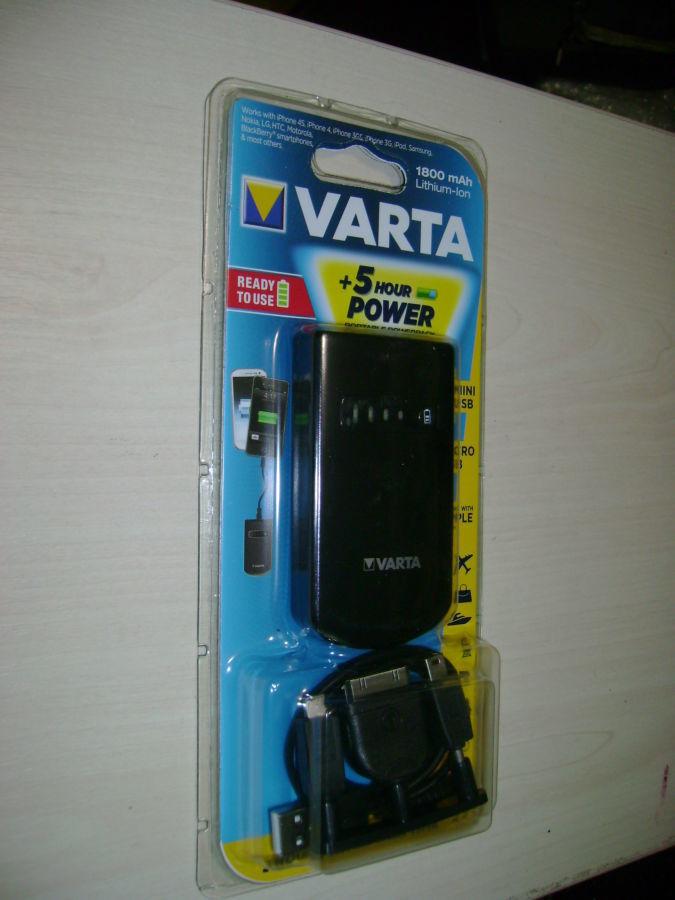 Фото 2 - Универсальная мобильная батарея 1800 mAh, Varta, Black (Power Bank)
